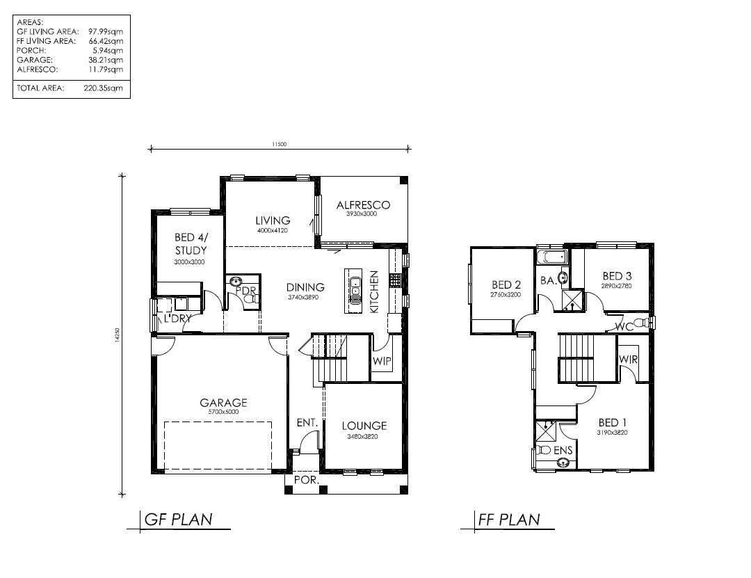 Double storey chifley for Simple double storey house plans